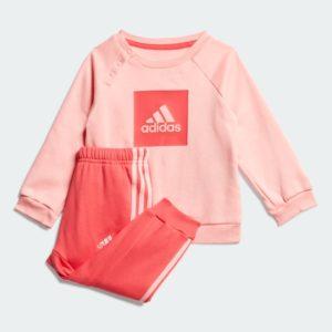 3_Stripes_Fleece_Jogger_Set_Pink